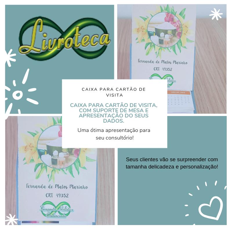 Caixa para cartão de visita – com suporte de apresentação.