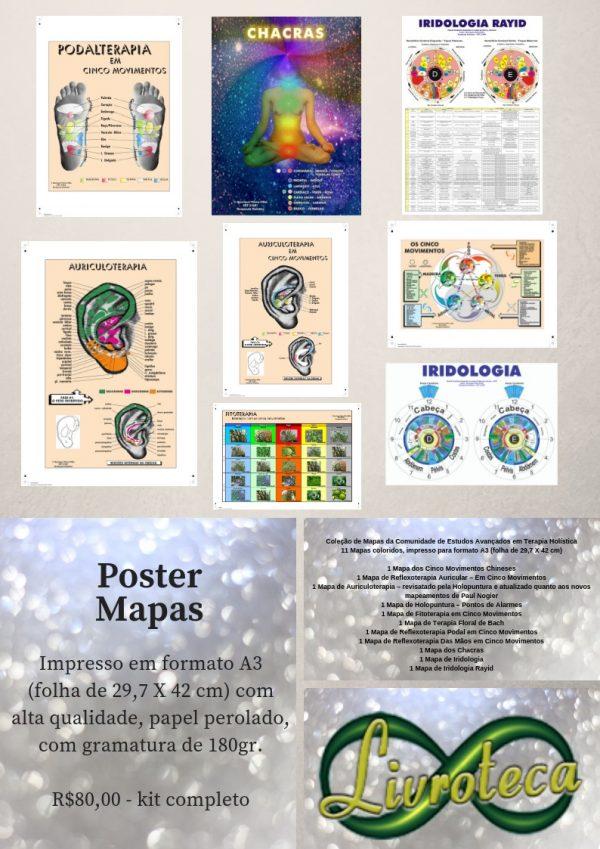Impresso em formato A3 (folha de 29,7 X 42 cm) com alta qualidade, papel perolado, com gramatura de 180gr.